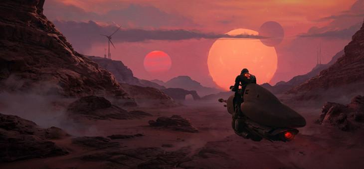 Grav Speeder on a Alien Planet