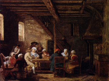 Pub Interior, by Leonard Defrance, 18th Century