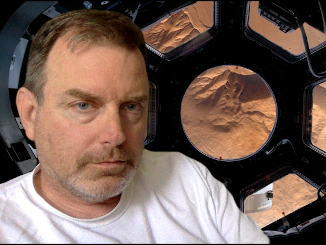 David Keener in Mars Orbit